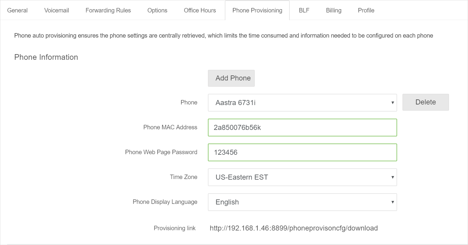 Add Aastra IP Phone into PortSIP PBX
