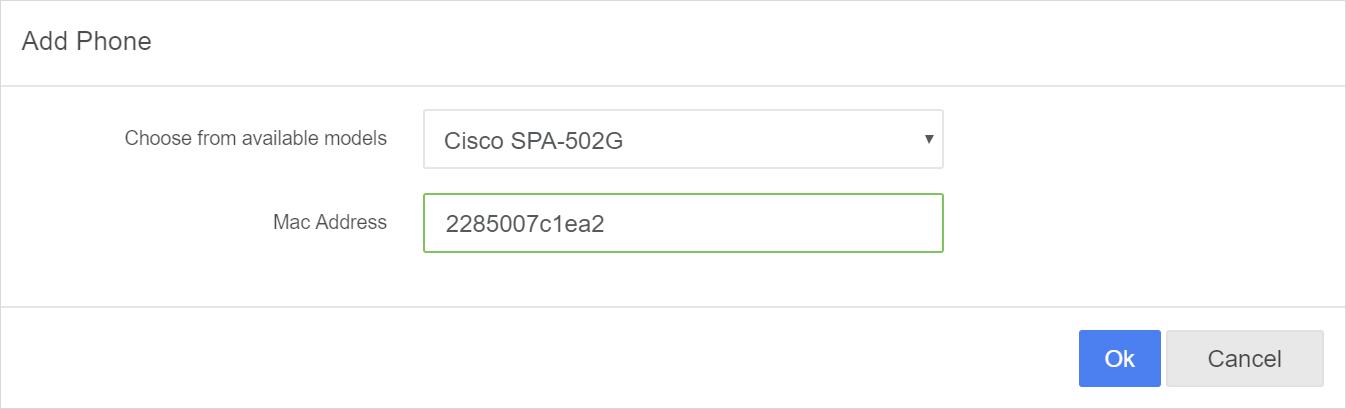 Add cisco spa ip phone to PortSIP PBX