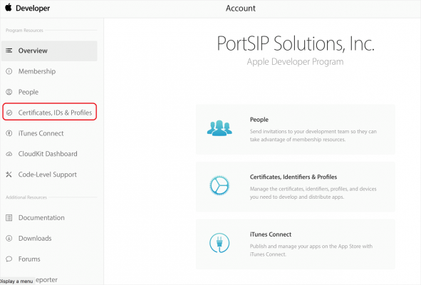 iOS PUSH with PortSIP PBX