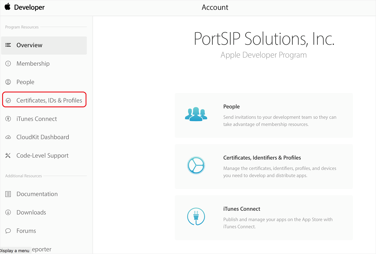 iOS PUSH with PortSIP PBX