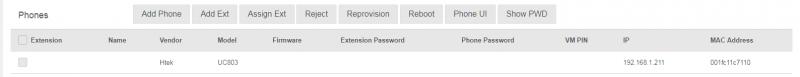 Add Htek IP Phone into PortSIP PBX