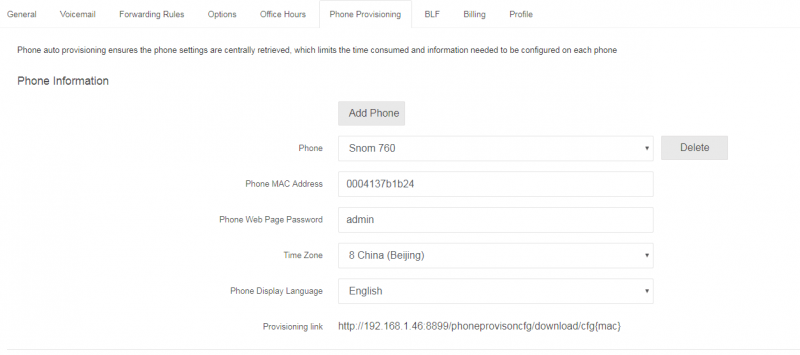 Add SNOM IP Phone into PortSIP PBX